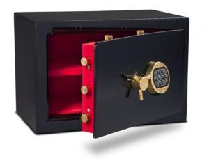 Eurovault Lx Standard Safe - red & black